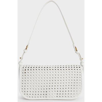 Woven Flap Shoulder Bag
