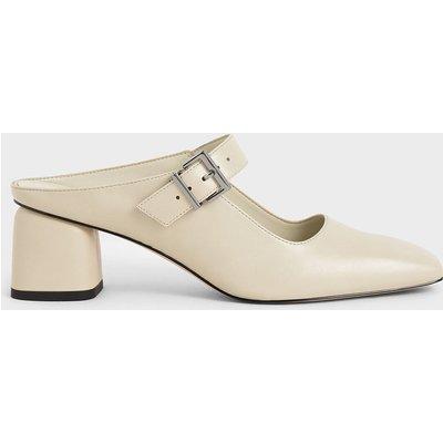 Mary Jane Block Heel Mules
