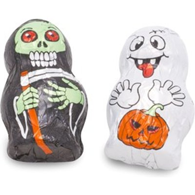 Chocolate mini ghosts - Bulk drum of 100