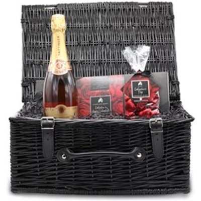 Valentine's Chocolate and Pink Champagne Wicker Hamper (Large)