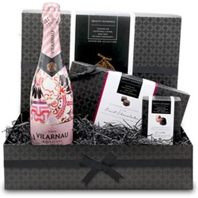 Summer Fruits, Chocolate and Rose Cava Small Gift Hamper