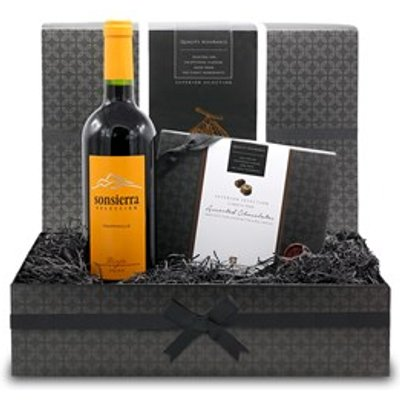 Chocolate and Red Wine Small Gift Hamper