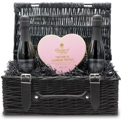 Chocolate and Prosecco 'Love' Small Wicker Gift Hamper