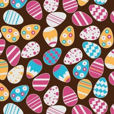 Easter Eggs, chocolate transfer sheets x2