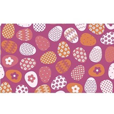 Pink Easter Eggs, chocolate transfer sheets x2