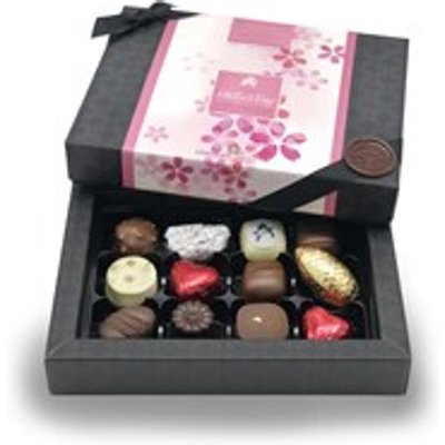Mother's Day, Pink Petals Design, 12 Mostly Milk Chocolate Gift Box - Personalised 12 Box