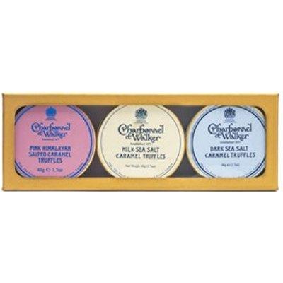 Charbonnel et Walker, Dark, Milk & Pink Mini Himalayan Salted Caramel Truffles gift set