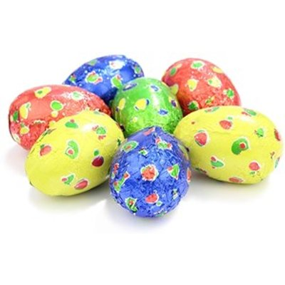Spotty chocolate Easter eggs 6cm - Drum of 40