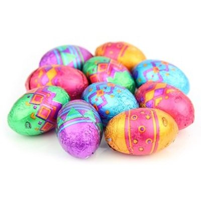 Patterned mini chocolate Easter eggs - Bulk box of 180