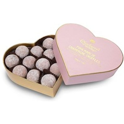 Pink Marc de Champagne truffle heart gift box 200g