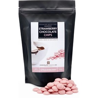 Pink chocolate chips - Large 1000g bag