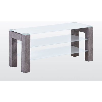 Tivoli Standard TV Unit - Glass and Concrete Effect