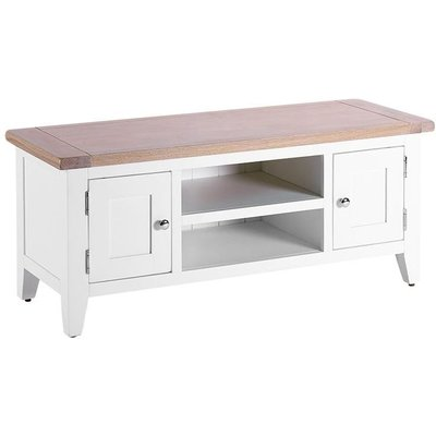 Chalked Oak and Pure White TV Unit - Besp Oak