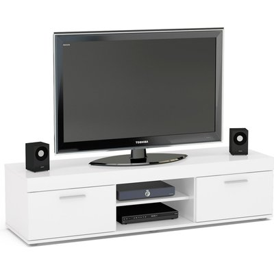 Birlea Edgeware White Medium TV Unit