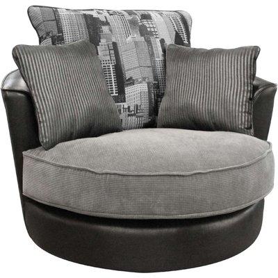 Buoyant Luman Morocco Black Fabric Swivel Chair