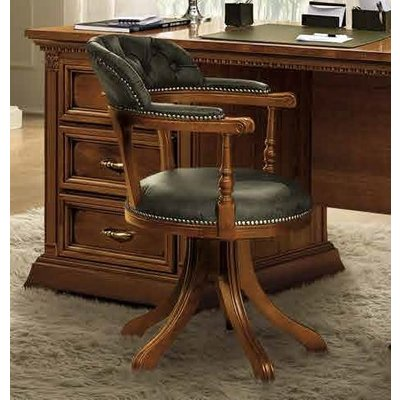 Camel Treviso Day Cherry Wood Italian Swivel Chair