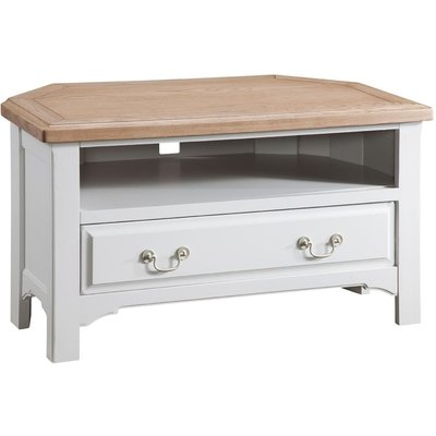 Classic Georgia Corner TV Unit - Grey Painted