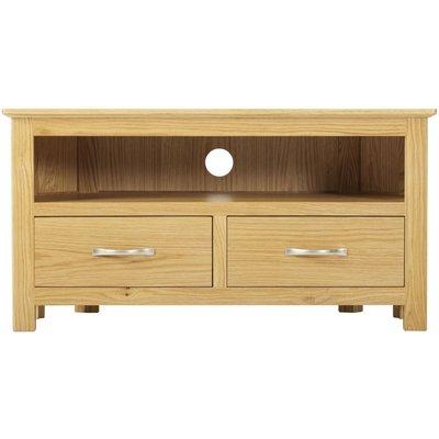 Classic Nordic Corner TV Cabinet - Oak