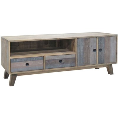 Classic Sorrento Large Entertainment Unit - Reclaimed Pine