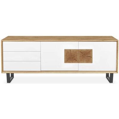 Modena Solid Oak Large 2 Door 3 Drawer TV Unit - 219