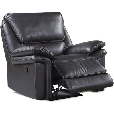 Houston Brown Leather Look Fabric Recliner Armchair