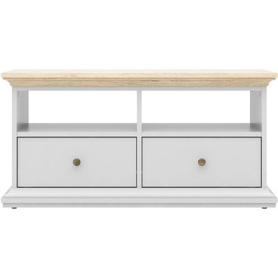 Paris TV Unit - White and Oak