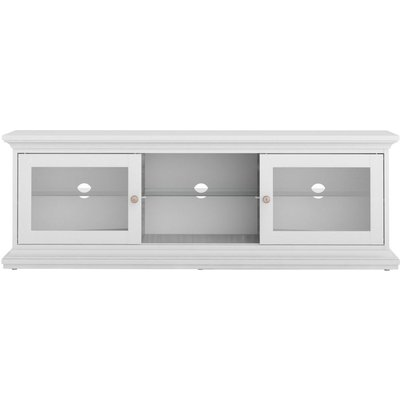 Paris White Wide TV Unit