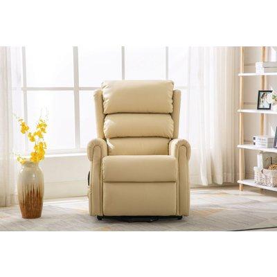 GFA Agatha Riser Recliner Chair - Cream Plush Fabric