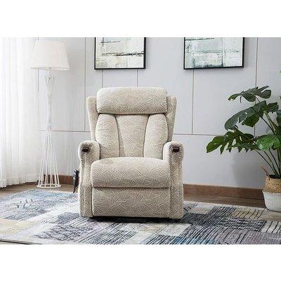 GFA Denmark Brushstroke Cream Fabric Riser Recliner Chair