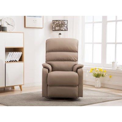 GFA Valencia Swivel Recliner Chair - Pebble Plush Fabric