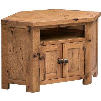 Homestyle Aztec Oak Corner TV Cabinet