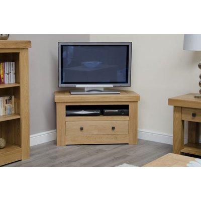 Homestyle Bordeaux Oak Corner TV Cabinet