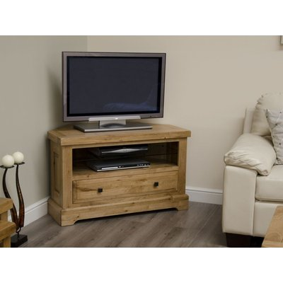 Homestyle Deluxe Oak Corner TV Unit