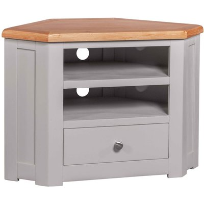 Homestyle Diamond Painted Corner TV Cabinet