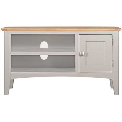 Lowell Oak and Grey Painted Small TV Unit