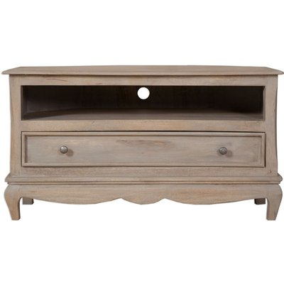 Calais French Style Lime Washed TV Cabinet - Corner