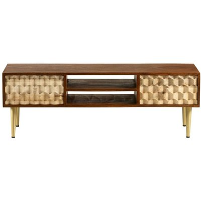 Indian Hub Edison Plasma TV Stand - Two Tone