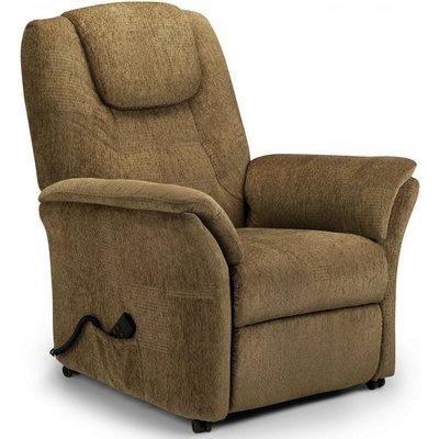 Julian Bowen Riva Rise Cappuccino Chenille Recliner Chair