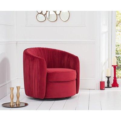Mark Harris Sarana Russet Velvet Swivel Chair