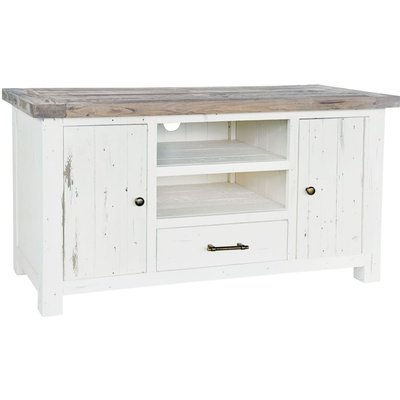 Rowico Purbeck TV Unit - Distressed White