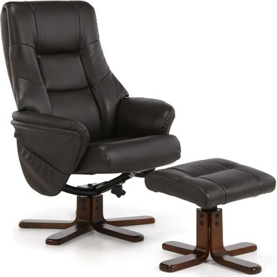 Drammen Brown Recliner Chair - Serene Furnishings