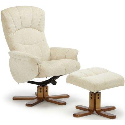Mandal Cream Recliner Chair - Serene Furnishings