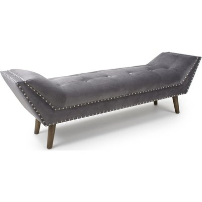 Shankar Montrose Grey Brushed Velvet Large Chaise