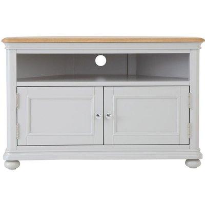 Annecy Soft Grey Painted 2 Door Corner TV Unit