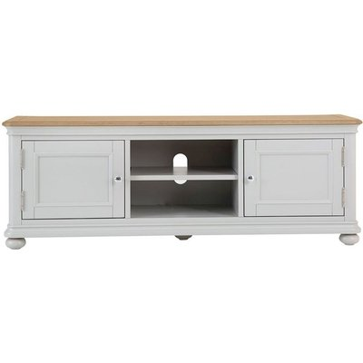 Annecy Soft Grey Painted 2 Door TV Cabinet