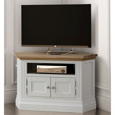 Sandringham Corner TV Unit - Oak and White Painted