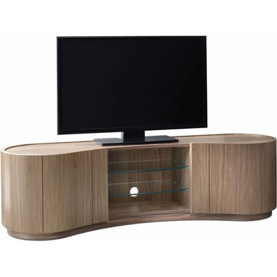 Tom Schneider Swirl Walnut TV Media Cabinet