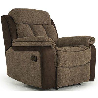 Vida Living Brampton Brown Fabric Recliner Chair