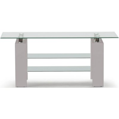 Vida Living Calico TV Stand - Glass and Grey