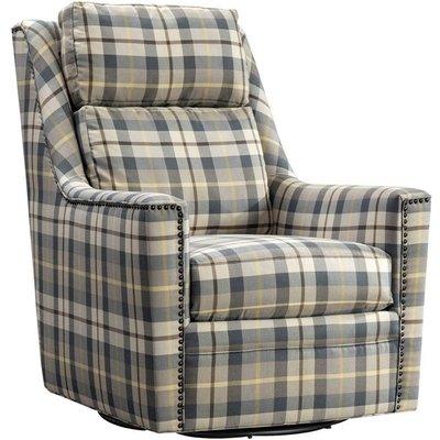 Vida Living Canterbury Oxford Fabric Swivel Chair